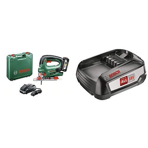 Bosch PST 18 LI Sega Multiuso con Batteria al Litio, 18 V + 2.5 Ah Accessorio Power 4All Batteria al Litio da 18 V