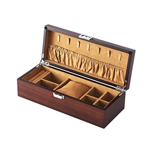 KHUY Caja de exhibición de reloj, organizador de reloj personalizado para hombres y mujeres, cajas de reloj de madera, organizador de exhibición de estilo europeo para hombre