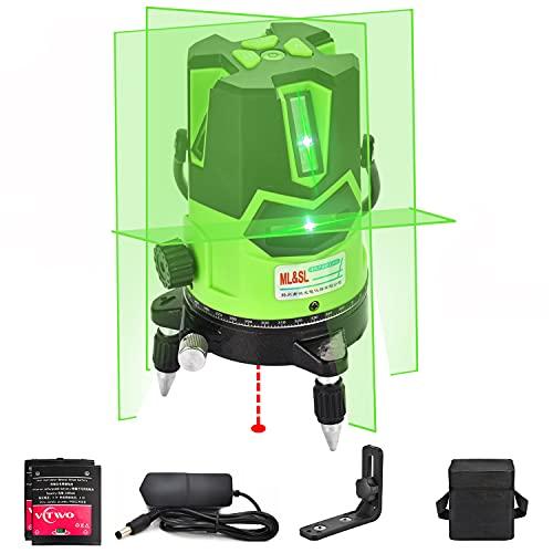 Nivel láser de haz verde de varias líneas: láser autonivelante automático 4 líneas...