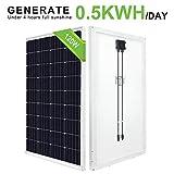ECO-WORTHY 12V 120W Mono Panel Solar Para Sistema Fuera de la Red Carga de la Batería de Camper Van Trailer y Más