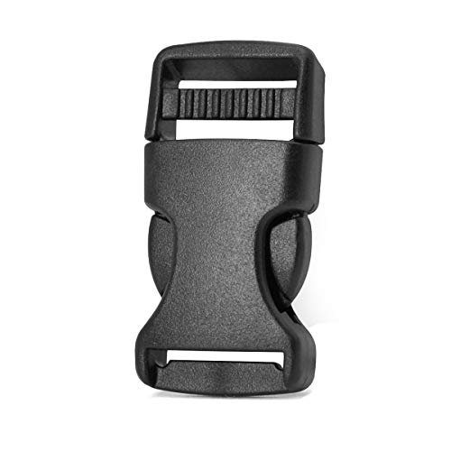 30 Pack 0.75' Side Quick Release Plastic Buckles Black