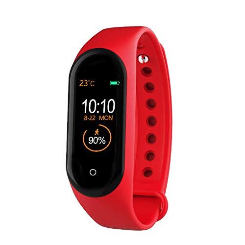 N-B Reloj inteligente con Bluetooth para hombre, pulsera de fitness, Bluetooth, resistente al agua, monitor de ritmo cardíaco, reloj inteligente para mujer