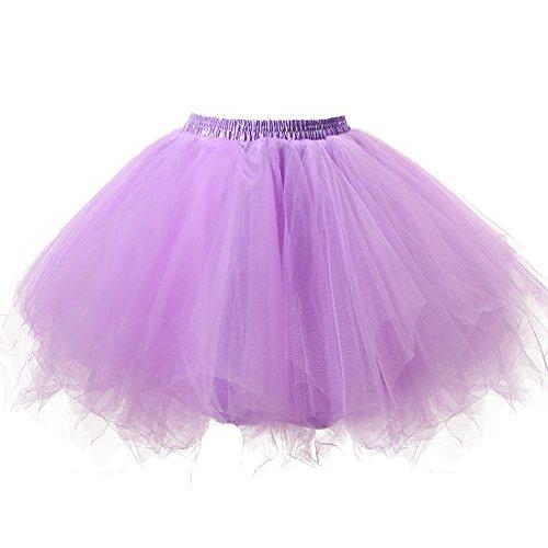 Honeystore Damen\'s Tutu Unterkleid Rock Abschlussball Abend Gelegenheit Zubehör Lavendel
