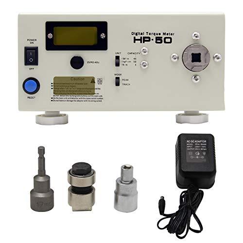 Newtry Zq-10g Affichage digital testeur de torsion/Torque Mètre Torsiometer Dynamomètre manuel portable Torsion par Lots/Clé dynamométrique (en option) avec tête de test (Hp-50)