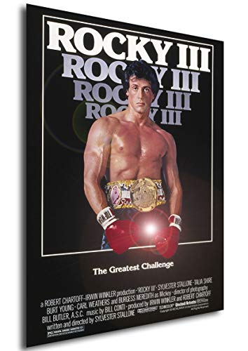 Instabuy Poster Rocky III Vintage Movie Poster - A3 (42x30 cm)
