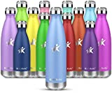 KollyKolla Bottiglia-Borraccia Termica Acqua in Acciaio Inox-350ml,500ml,650ml,764ml-Bottiglie Doppia Parete Isolato a Vuoto-Senza BPA-Processo di Verniciatura a Polvere