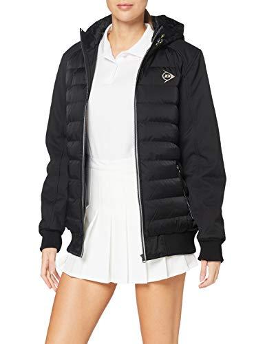 DUNLOP Club Line Unisex Padded Jacket Femme, Noir, XXL