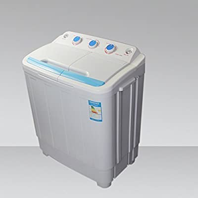 LEISURE DIRECT TWIN PORTABLE 230V 4.6KG WASHING MACHINE FOR BOATS RV SPIN DRYER