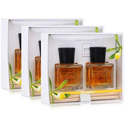 Geschenkset Essentials by Ipuro Pure Vanilla 2x 50 ml Raumduft (3er Pack)