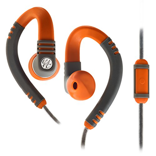 Yurbuds by JBL Adventure Series Explore Talk Behind-the-Ear Sport Kopfhörer (Flexiblem Ohrbügel, TwistLock Technologie, geeignet für Apple iOS/Android Smartphones/Tablets/MP3 Geräten) orange