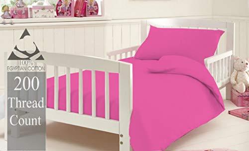 KLAZE - Juego de funda de edredón y funda de almohada para cuna, hipoalergénica, para niñas, niños, bebés, color rosa