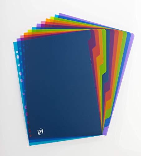 Escuela de Elba Vida regrabables divisores con 12 más aquí A4 Colores Surtidos