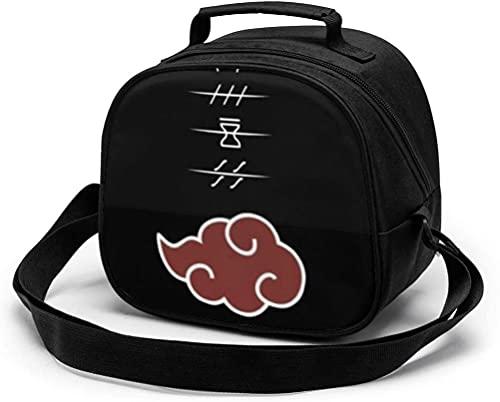 Narutos - Bolsa de almuerzo portátil reutilizable para niños, bolsa térmica con correa para el hombro y asa