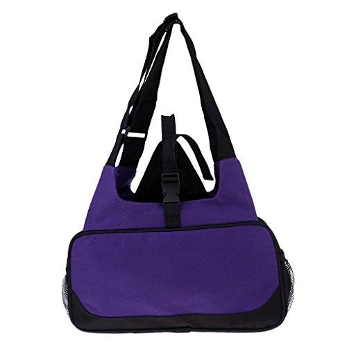 Sharplace Bolsa de Transporte para Esterilla de Yoga Y Pilates Mochila de Lona Compacta con Bolsillo Y Cremallera (eficiente Y Ligera) - Púrpura