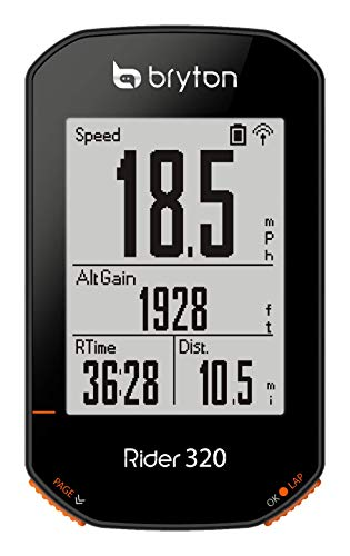 Bryton Rider 320E GPS Bike Cycling Computer. Simple but Powerful. Support 5 Satellite Systems. 35hrs Long Battery Life. Support ANT+/BLE Cadence, Speed, HRM Sensors. Support ANT+ Power Meter.