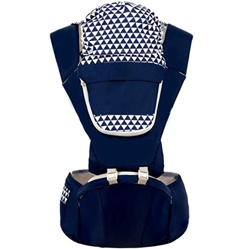 SCYMYBH Ergonomic Baby Carrier Infant Kid Baby Hipseat Sling Front Facing Kangaroo Baby Wrap Carrier for Baby Travel 0-36 Months (Color : Blue)