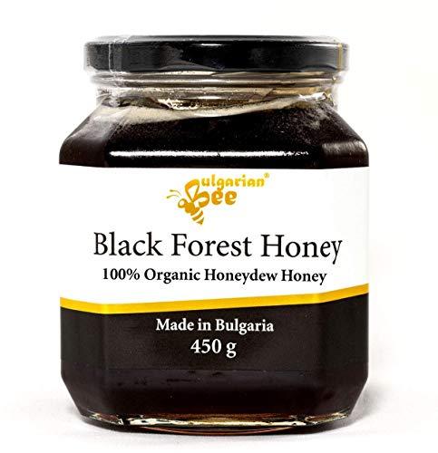 450 g Bio Miel de Miellat de Forêt, Noire, cru, non chauffé, sans sucre, non pasteurisée, sans additifs