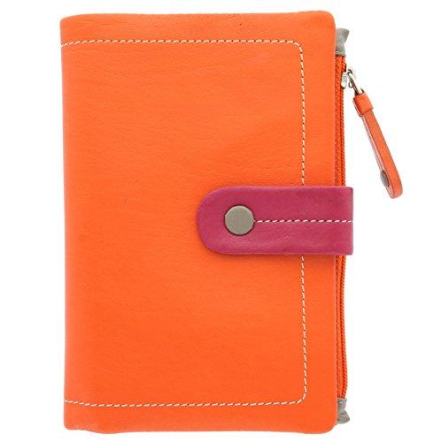Portafoglio da Donna in Pelle Multicolore Visconti Mimi Collezione MALIBU M87 Arancione Multi