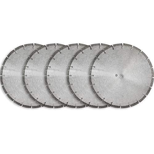 14' Sintered 10mm Wet/Dry General Purpose Concrete Diamond Saw Blade (5 Pack)