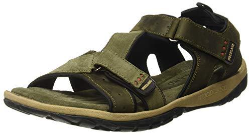 Woodland Men's Ogd 2695117_Olive Green_8 Leather Sandals-8 UK/India (42 EU)