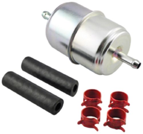 Hastings Filters GF1 In-Line Fuel Filter with Clamps and Hoses