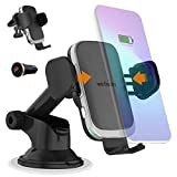 15W Auto Wireless Car Charger Phone Holder Upgraded 2020 Version Fast Qi Automatic Clamping Charging Mount Dock Compatible with iPhone 12/11 Pro Max/XR/Xs/8, Samsung S20 Ultra S10 Note 20 10-Wefunix