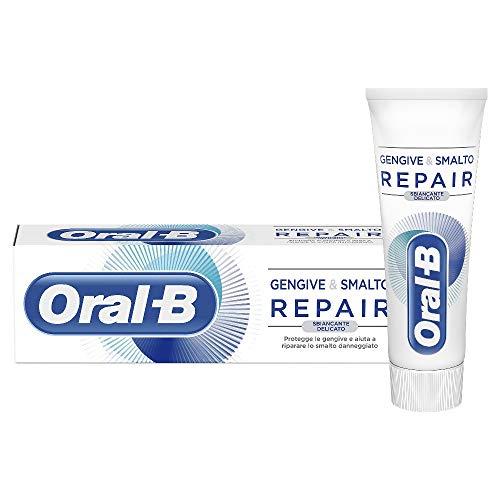 Oral-B Dentifricio Gengive & Smalto Repair, Sbiancante Delicato, 75 ml