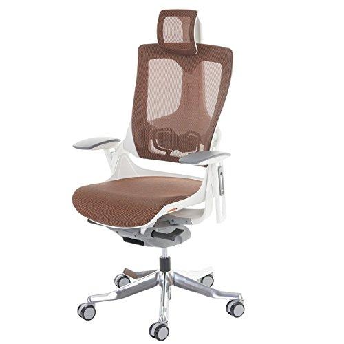 Preisvergleich Produktbild Mendler Bürostuhl MERRYFAIR Wau 2,  Schreibtischstuhl Drehstuhl,  Polster / Netz,  ergonomisch - Mandarin