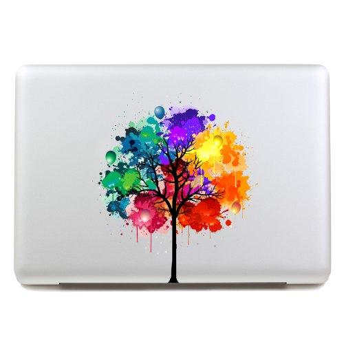 G Ganen macbook decal colors tree Macbook sticker partial cover Macbook Pro decal Skin Macbook Air 13 Sticker Macbook decal
