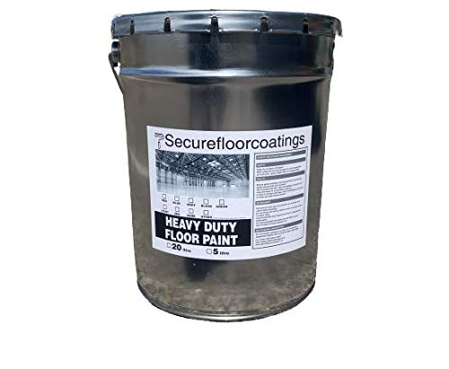 Super Strong Durable Oil Based Floor Paint, Suitable for Wood, Metal and Concrete 20L (Mid Grey) for Factory Floors, Car Show Rooms, Garages, Pathway, DIY