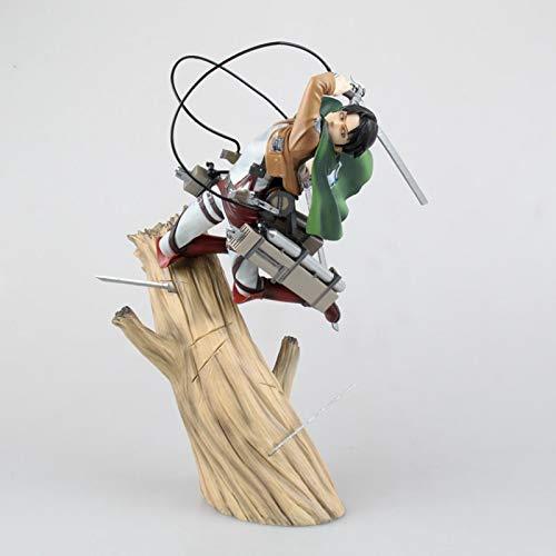 kijighg Attack On Titan Levi Eren Cartoon Doll PVC 25Cm Figurine Giapponese Confezionato in Scatola Action Figure per Kid Collezione Anime