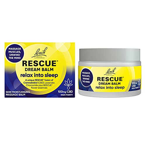Nelsons Rescue Dream Balm CBD, for a great night's sleep, unwind your mind and muscles and relax into sleep, Skin Friendly, Format 1 x 100mg per 50ml jar