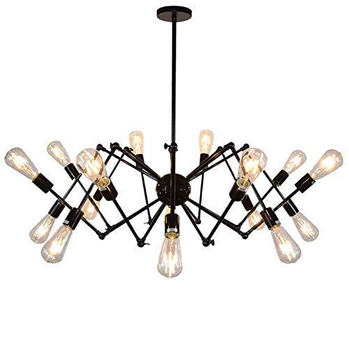 Sputnik Kandelaar Amerikaanse Plafond Licht Spider Verlichting Iron Art Zwarte Lamp voor Studie Eetkamer Bar Slaapkamer