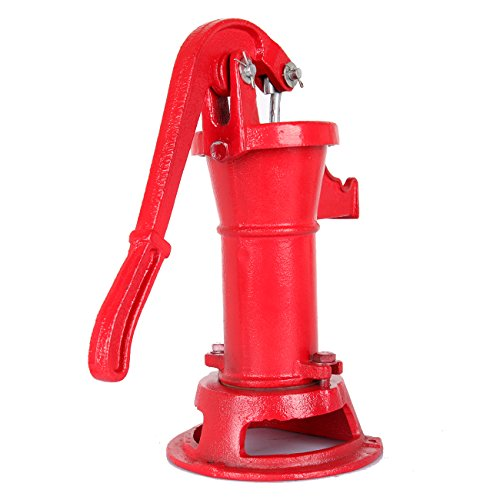 TryE Pitcher Hand Pump Cast Iron Well Water Press Suction Outdoor Yard Garden
