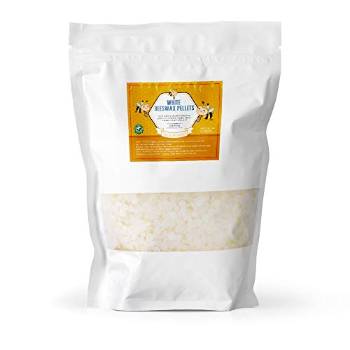 White Beeswax Pellets Pastilles for Candle Making 5LB