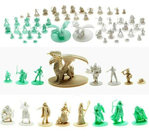 Mythical Heroes Mini Figure Set for RPGs - 93 Pcs in 16 Designs - Heroes and Monsters - Suitable...