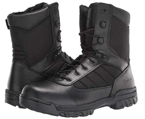 "Bates Men's 8"" Ultralite Tactical Sport Side Zip Military Boot, Black, 13 M US"