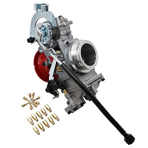 KIPA Carbuertor for KTM 520 525 400 540 RFS EXC SX Suzuki DRZ400 GRSXR750 GSXR 1100 Honda CRF450 Dirt bike, Replace for Keihin FCR 39 Flat Side Carburetor 39mm, OEM # 59031001300