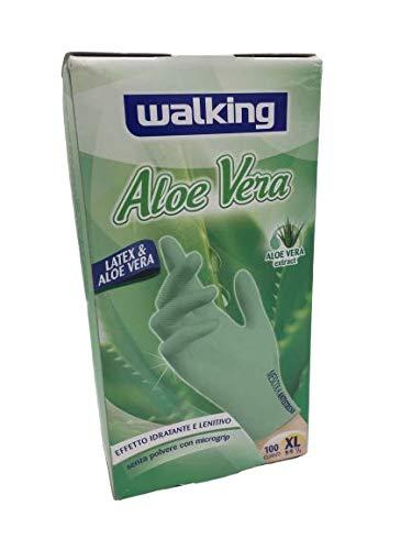 WALKING - Guanti In Lattice Aloe Vera Confezione Da 100 Pz. Misura XL Mescola Antistress