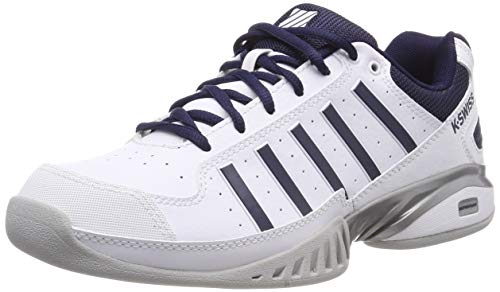 K-Swiss Herren Receiver IV Carpet Tennisschuhe, Weiß (White/Navy, 7 000070585), 43 EU