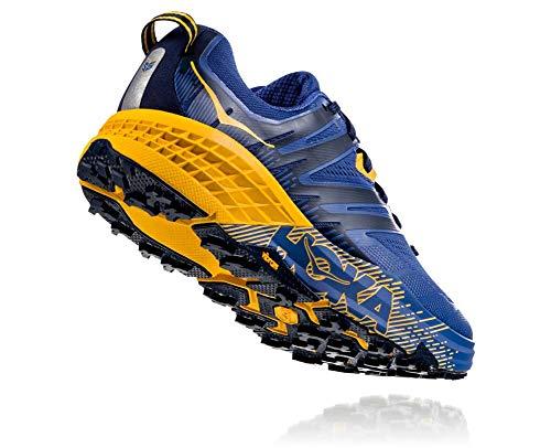 HOKA ONE ONE Mens Speedgoat 3 Blue/Old Gold Trail Runner - 11