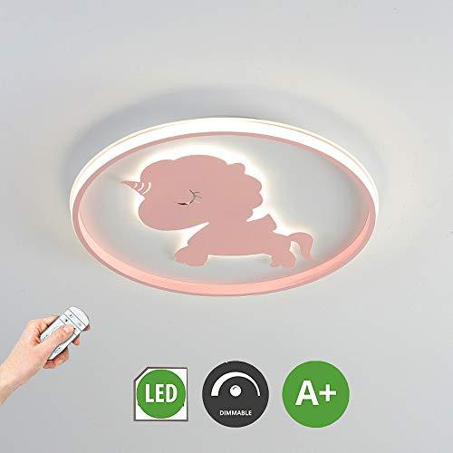 HIL plafondlampen Flush plafondlampen, Cartoon Unicorn LED plafondlamp, meisjes Jongen slaapkamer kinderkamer verlichting Cartoon Creative, decoratieve verlichting voor kinderkamer