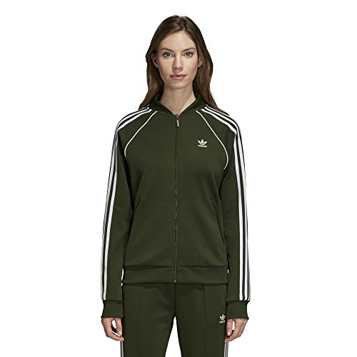 adidas Originals Super Star Trainingsjacke für Damen - Grün - Klein