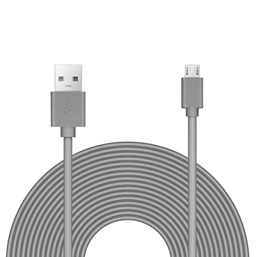 25ft Power Extension Cable Compatible with Blink Mini, Wyze V3, Playstation, Yi Dome, Home Camera - Charcoal -