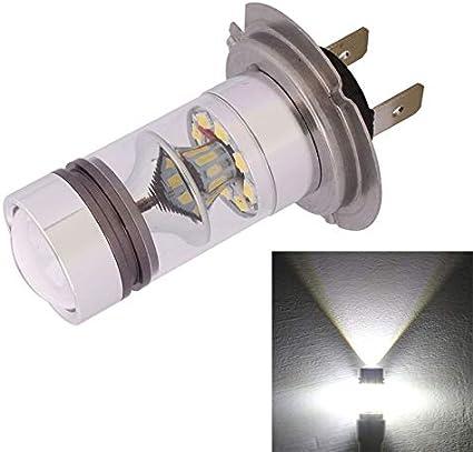Pan Fog Light H7 850 LM 100 W LED Faros Delanteros de Coche/luz de circulación Diurna/Bombilla de conducción, DC 12-24 V (Blanco frío)