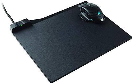 Corsair Dark Core RGB SE Wireless / Wired Optical Gaming Mouse (with Qi Wireless Charging and MM1000 Qi Wireless Charging Gaming Mouse Pad) Black