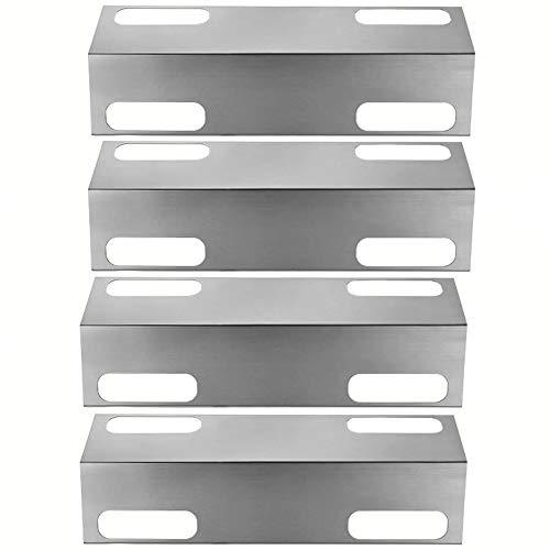 GFTIME Grill Edelstahl-Hitze-Platte, Hitzeschild, Wärmezelt, Brennerdeckel, Vaporizor Bar und Flavorizer Bar Ersatz für Select Ducane Gasgrill Modelle (4 Pack)
