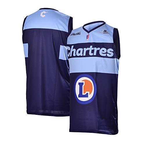 Chartres Basket Métropole Chartres Métropole Basket Maillot Officiel Extérieur Saison 2018-2019 Basketball Mixte Adulte, Bleu Marine, FR (Taille Fabricant : XL)