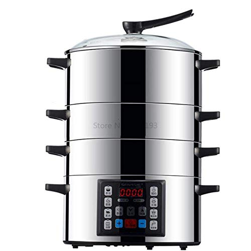 Steaming Cage 304 Stainless Steel with Large Capacity and Fast Cooking in Household Multifunctional Electric Steamer 1yess (Color : Multi)