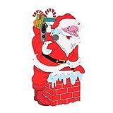 YKTO Funda para Xiaomi Redmi Note 7 Silicona con 3D Muñecas Dibujos Navidad Diseño Suave Cárcasa Antigolpes Gel TPU Piel Regalo de Funda Cordón Largo Navidad Santa Claus Back Cover for Redmi Note 7